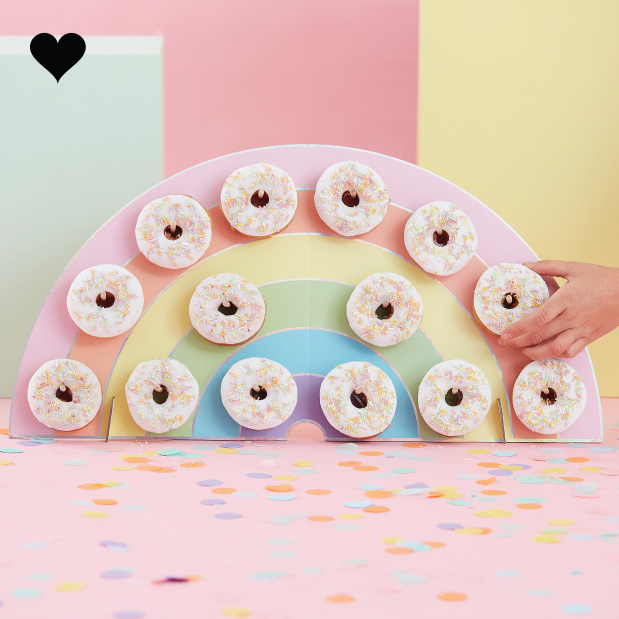 Donutwall Regenboog Pastel Party - Ginger Ray-1