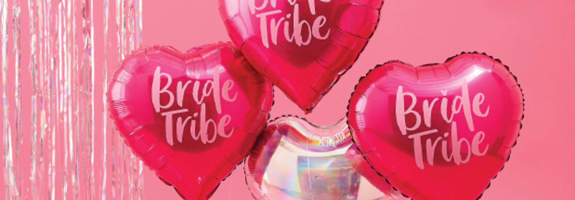 Folieballonnen hart Bride Tribe (5st) Ginger Ray
