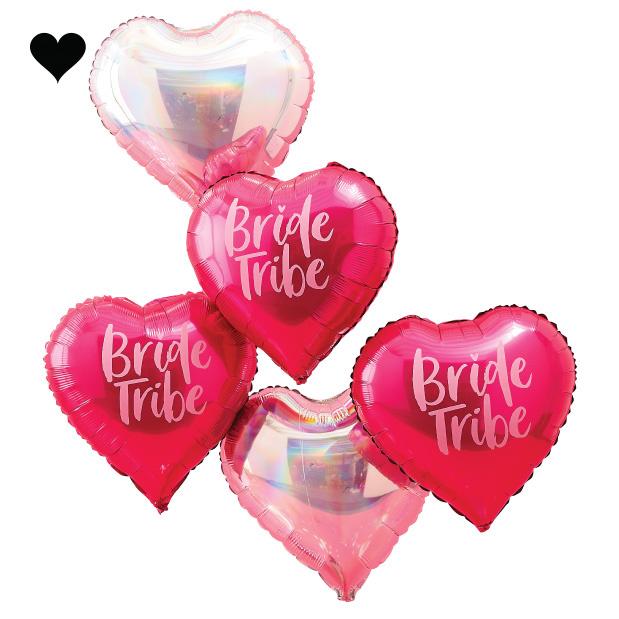 Folieballonnen hart Bride Tribe (5st) Ginger Ray-2