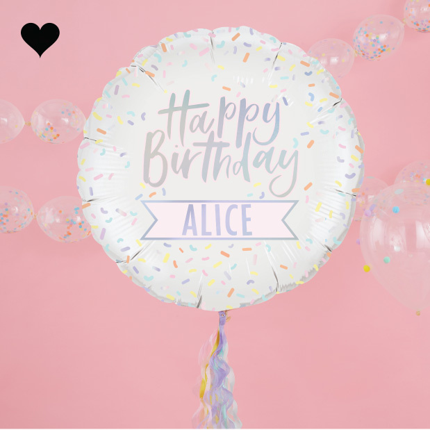 Folieballon met stickers Pastel Party - Ginger Ray-1