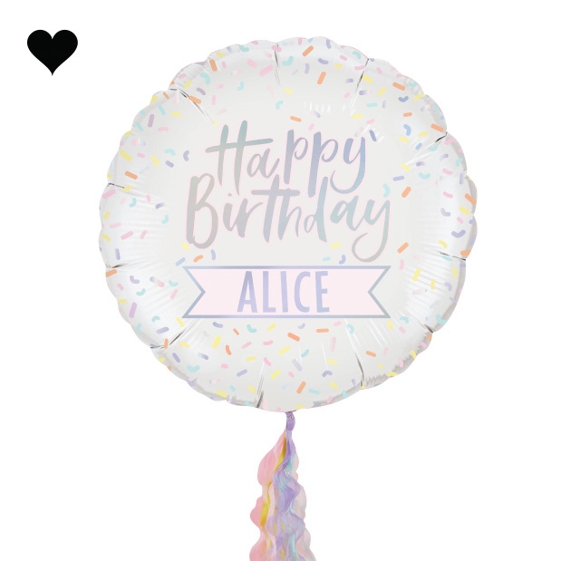 Folieballon met stickers Pastel Party - Ginger Ray-2