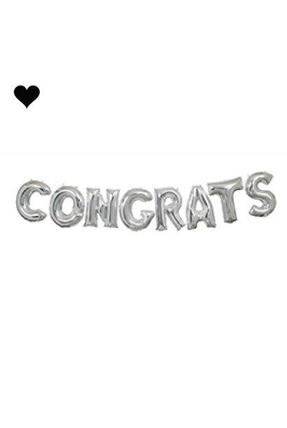 Folieballon slinger Congrats (2.7 M)
