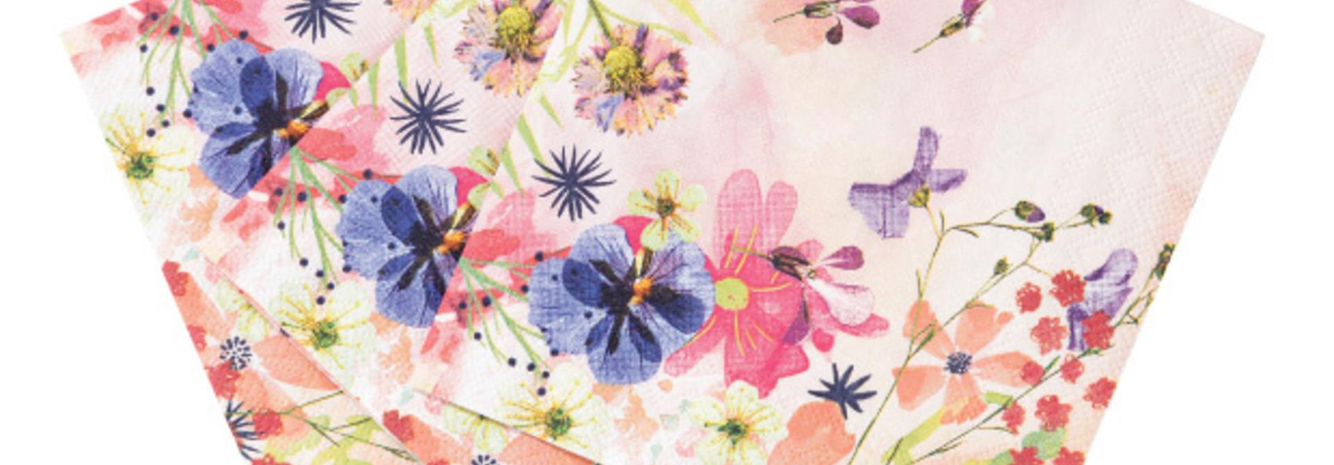 Gebaksservetten Blossom Girls (20 st) - Talking Tables
