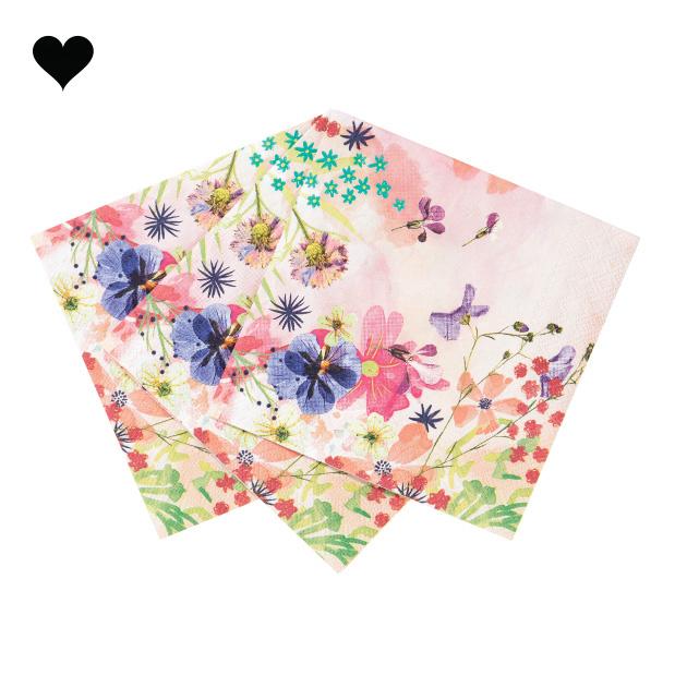 Gebaksservetten Blossom Girls (20 st) - Talking Tables-1