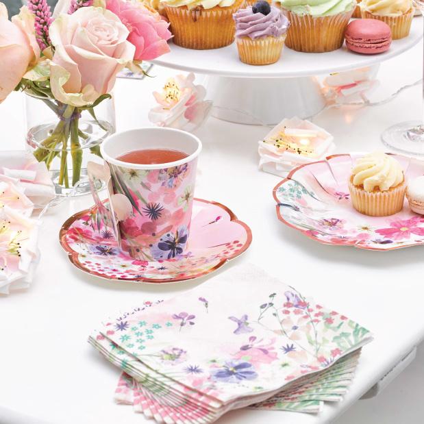 Gebaksservetten Blossom Girls (20 st) - Talking Tables-2