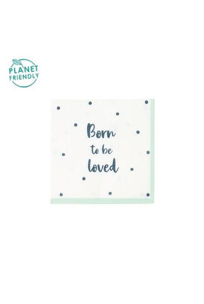 Servetten Born To Be Loved (20 st) - Talking Tables