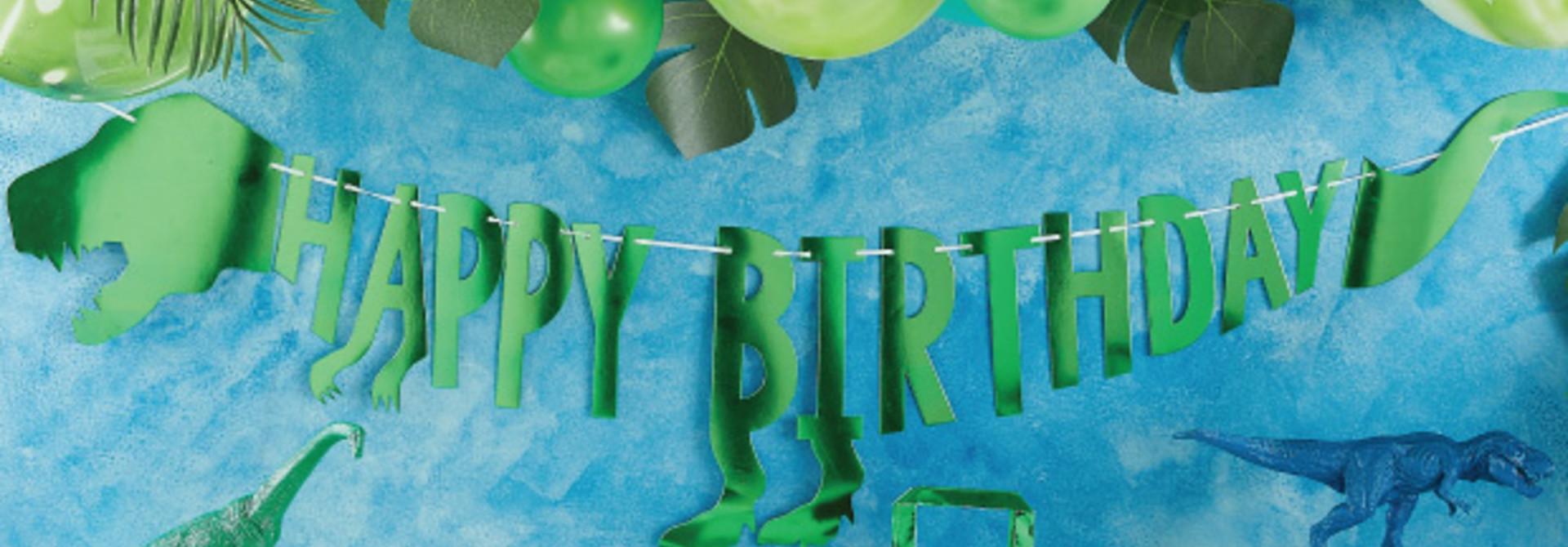 Dinosaurus slinger Happy Birthday Roarsome - Ginger Ray