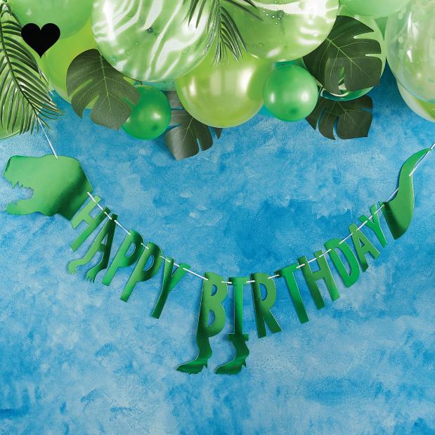 Dinosaurus slinger Happy Birthday Roarsome - Ginger Ray-2