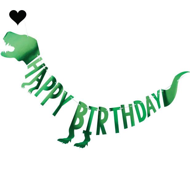 Dinosaurus slinger Happy Birthday Roarsome - Ginger Ray-3