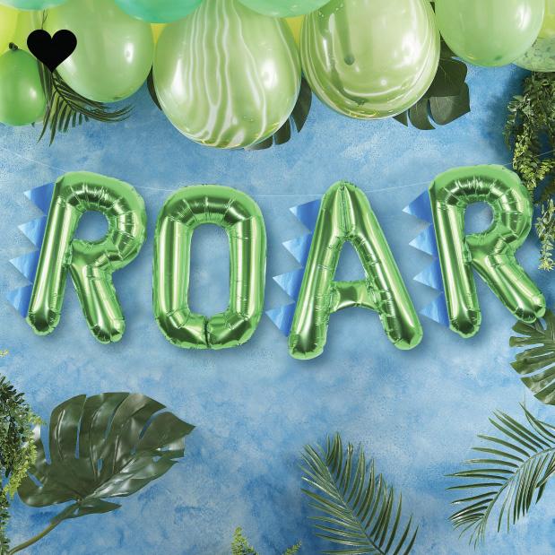 Folieballon ROAR Roarsome - Ginger Ray-1