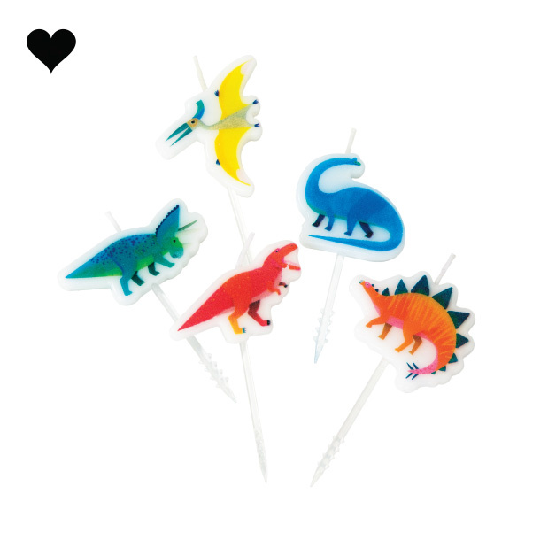 Taartkaarsjes Party Dinosaurs (5st) Talking Tables-1