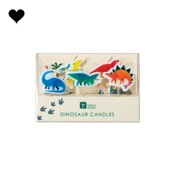Taartkaarsjes Party Dinosaurs (5st) Talking Tables-3