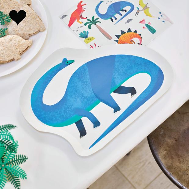 Dino bordjes Party Dinosaurs (12st) Talking Tables-2
