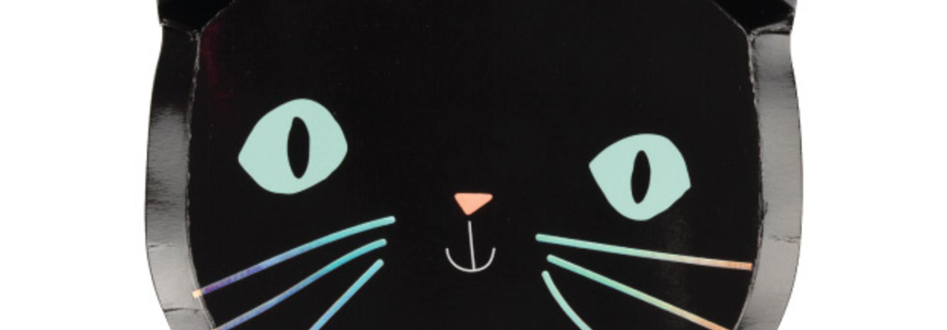 Bordjes zwarte katten (8 st) - Meri Meri