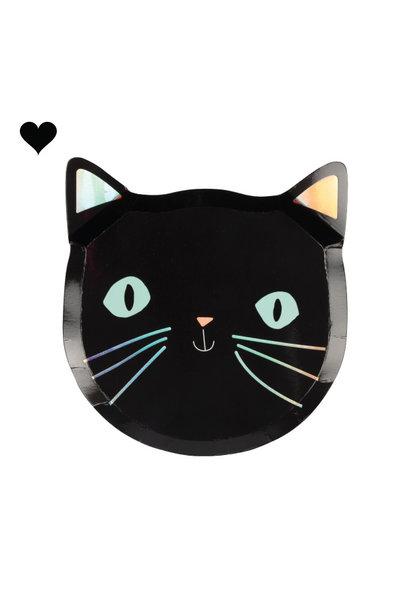 Bordjes zwarte katten (8st) Meri Meri