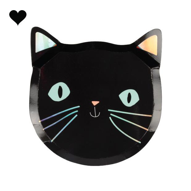Bordjes zwarte katten (8 st) - Meri Meri-1