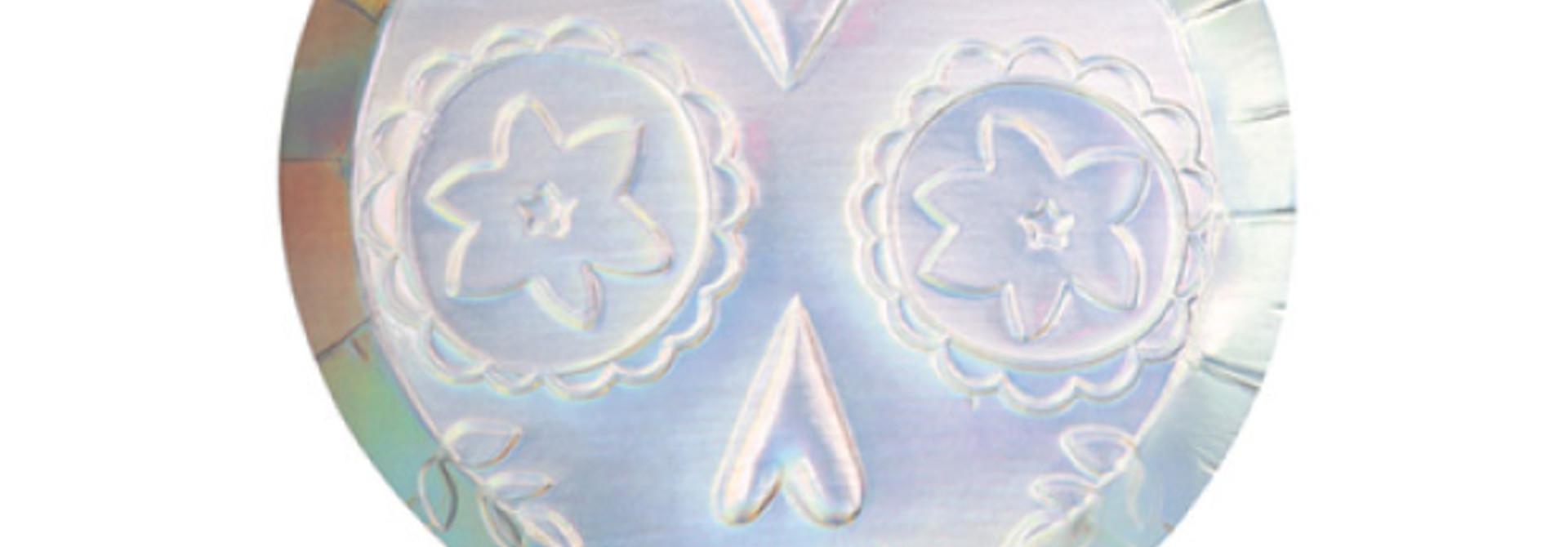 Bordjes Sugar Skull holografisch (8 st) - Meri Meri