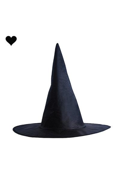 Heksenhoed zwart