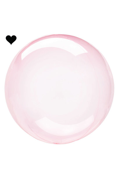 Orbz folieballon clearz crystal roze (40 cm)