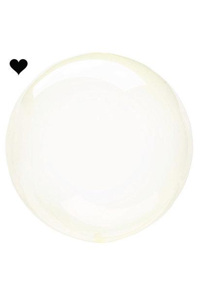 Orbz folieballon clearz crystal yellow (40 cm)
