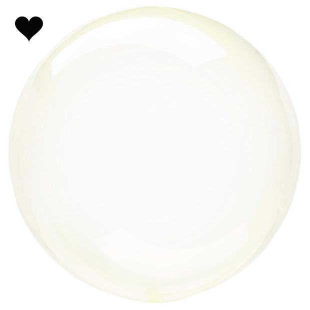 Orbz folieballon clearz crystal yellow (40 cm)-1