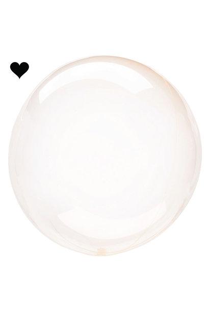 Orbz folieballon clearz crystal oranje (40 cm)