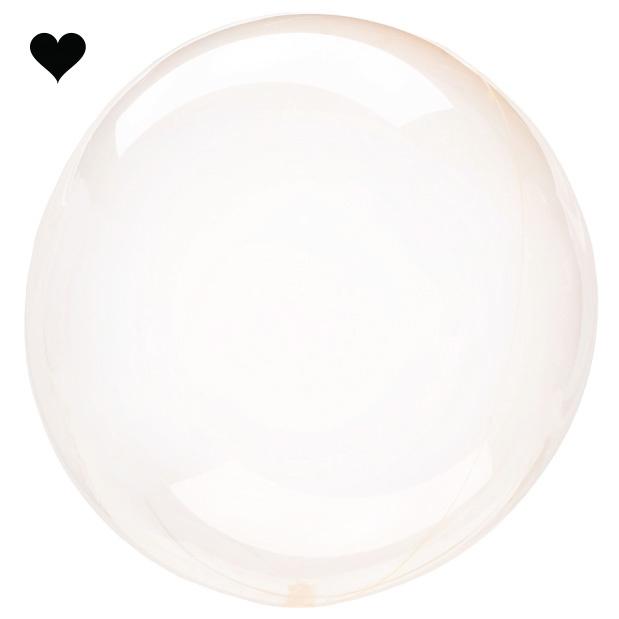 Orbz folieballon clearz crystal oranje (40 cm)-1
