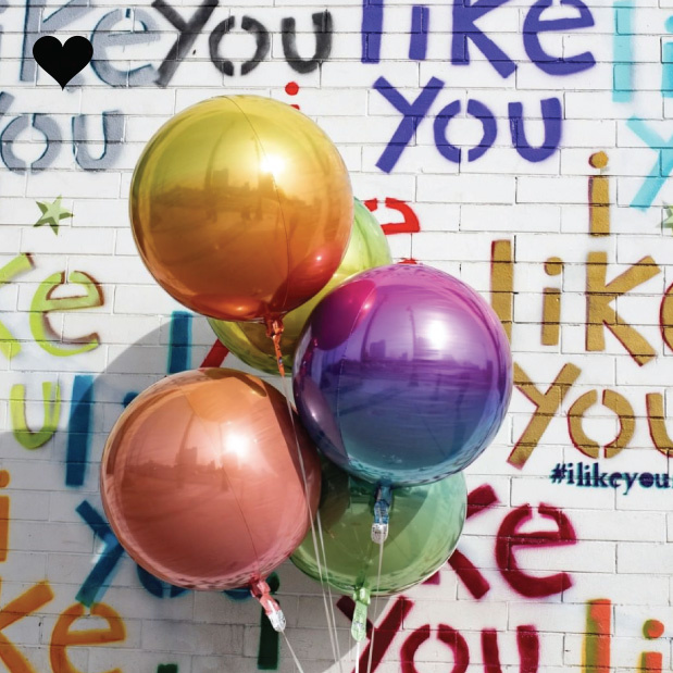 Folieballon ombre roze & blauw (40cm)-3