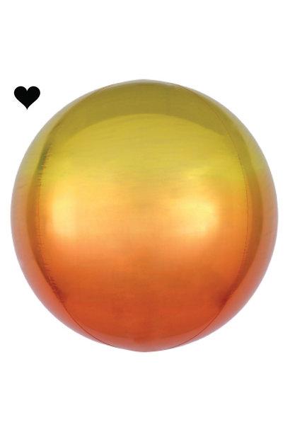 Folieballon ombre geel & oranje (40cm)