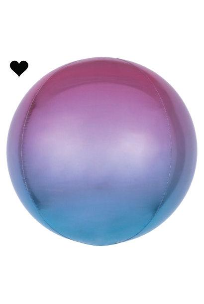 Folieballon ombre paars & blauw (40cm)
