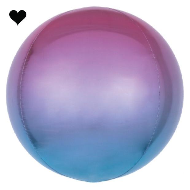 Folieballon ombre paars & blauw (40cm)-1