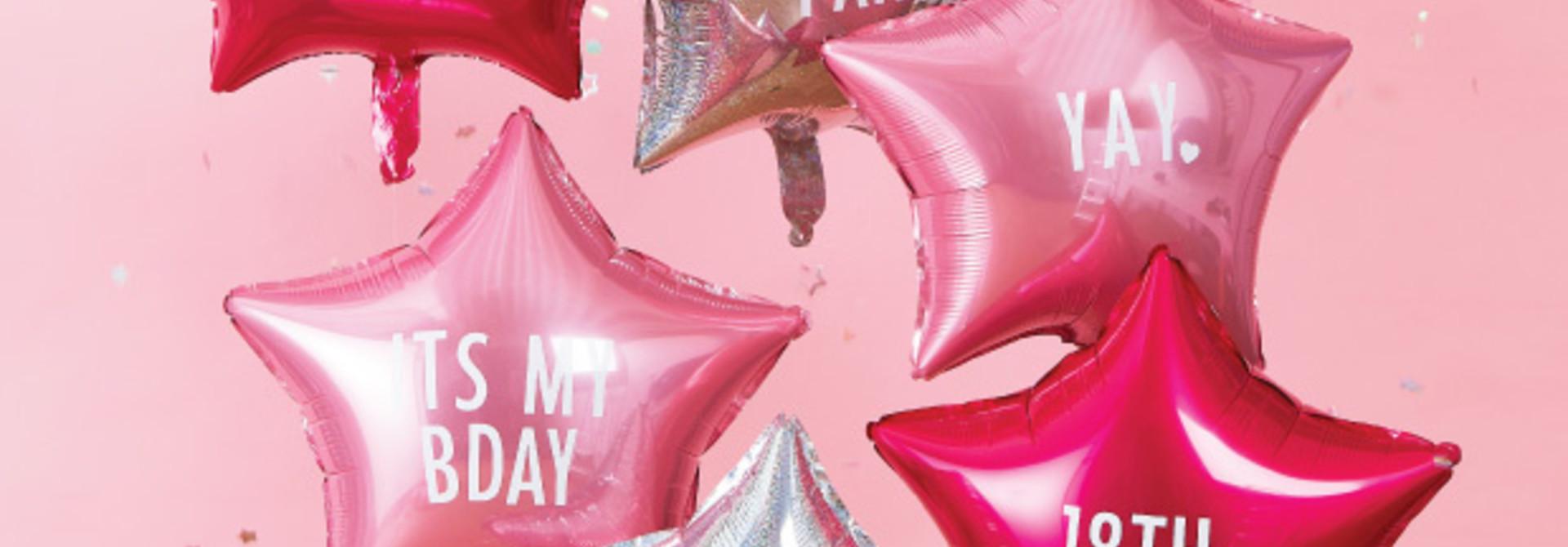 Folieballonnen met stickers (6 st) Stargazer Ginger Ray