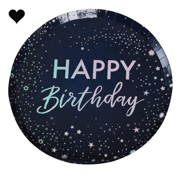 Bordjes Happy Birthday Stargazer (8 st) Ginger Ray-2