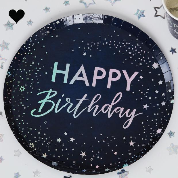 Bordjes Happy Birthday Stargazer (8 st) Ginger Ray-3