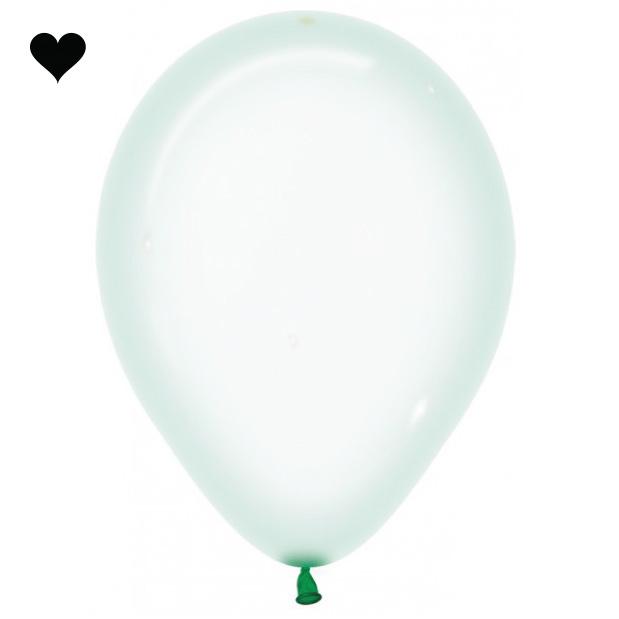 Ballonnen clearz crystal mint (10 st)-3