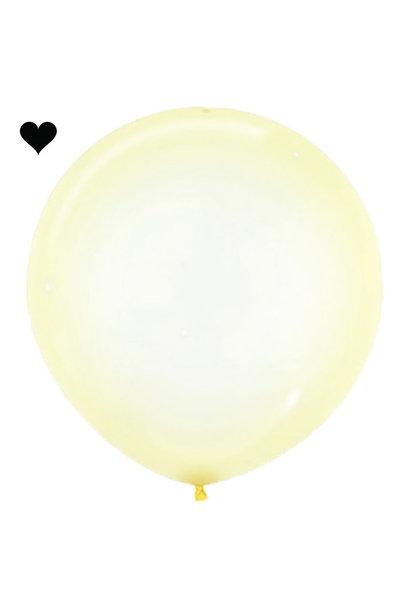 Ballon clearz crystal geel (60 cm)