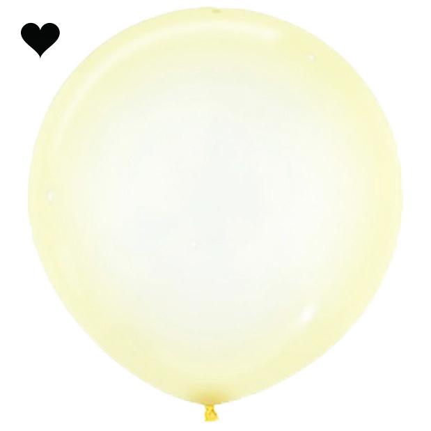 Ballon clearz crystal geel (60 cm)-1