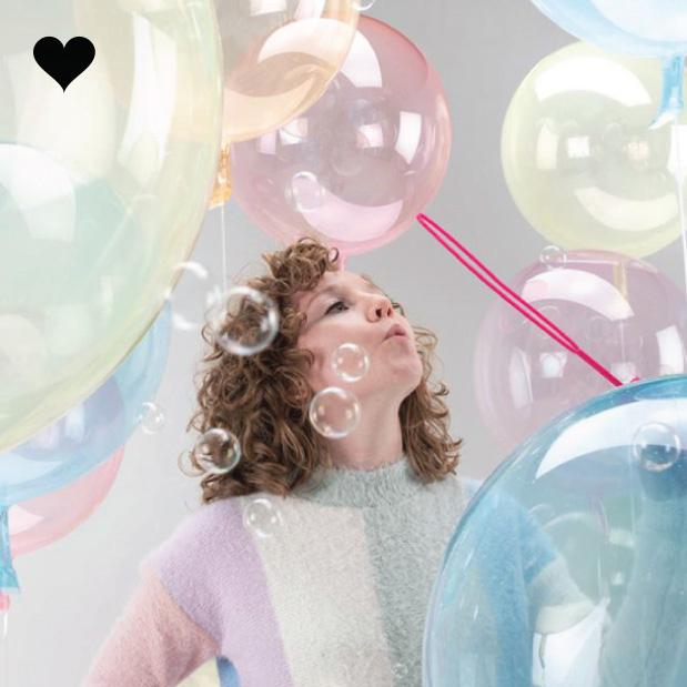 Ballon clearz crystal geel (60 cm)-2