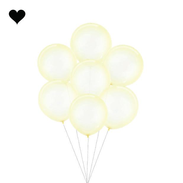 Ballon clearz crystal geel (60 cm)-3