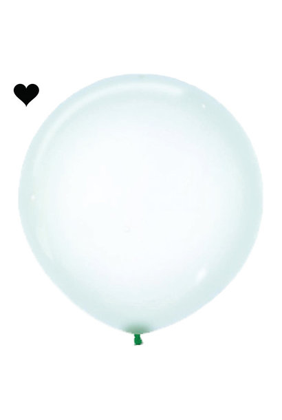 Ballon clearz crystal groen (60 cm)
