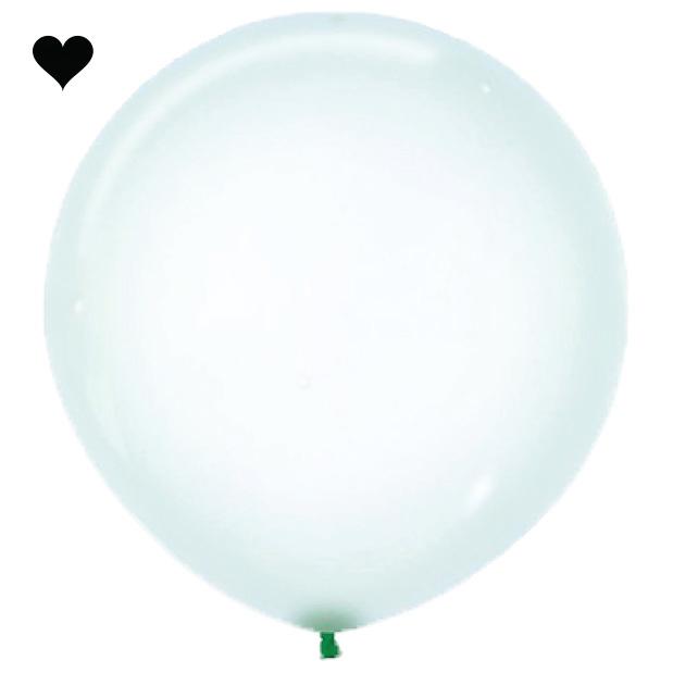 Ballon clearz crystal groen (60 cm)-1