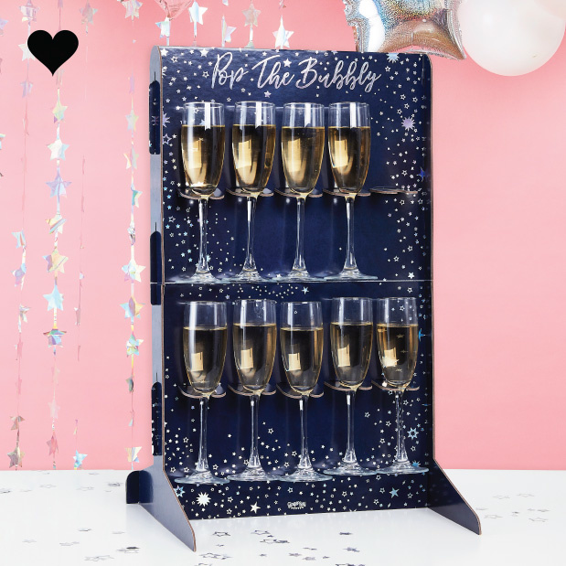 Prosecco Wall Pop the Bubbly Stargazer Ginger Ray-3
