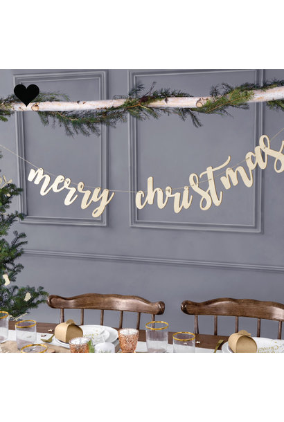 Houten slinger Merry Christmas