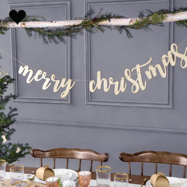 Houten slinger Merry Christmas-1