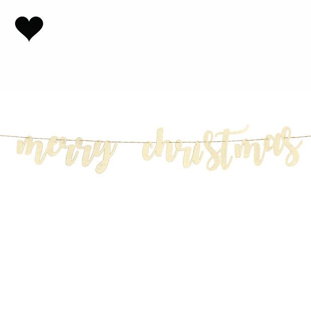 Houten slinger Merry Christmas-2