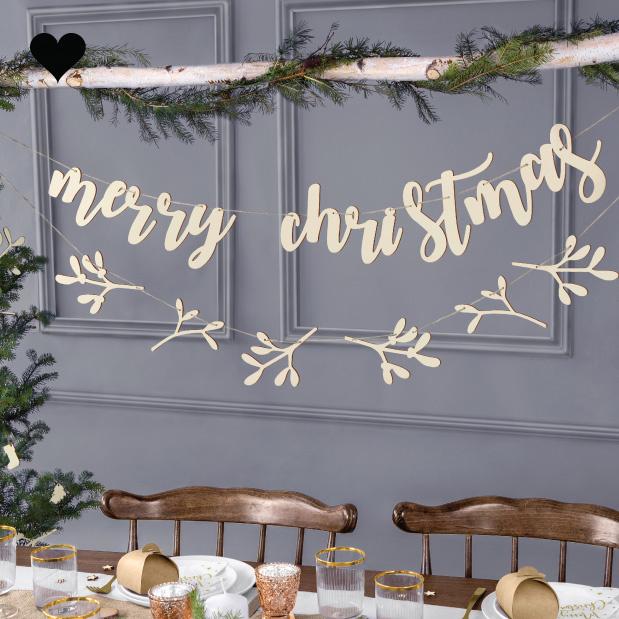 Houten slinger Merry Christmas-3