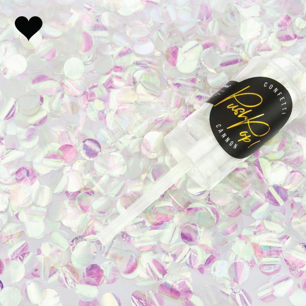 Confetti push pop iridescent-2