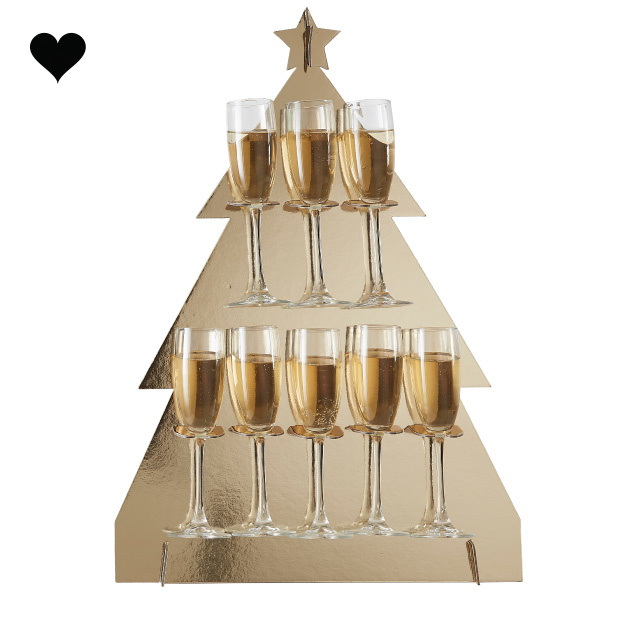 Prosecco Wall kerstboom Gold Glitter Ginger Ray-2
