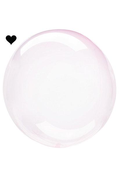 Orbz folieballon clearz crystal lichtroze (40 cm)