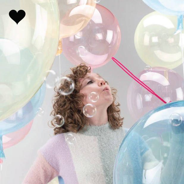 Orbz folieballon clearz crystal lichtroze (40 cm)-2